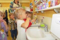 Biedronki myją ząbki